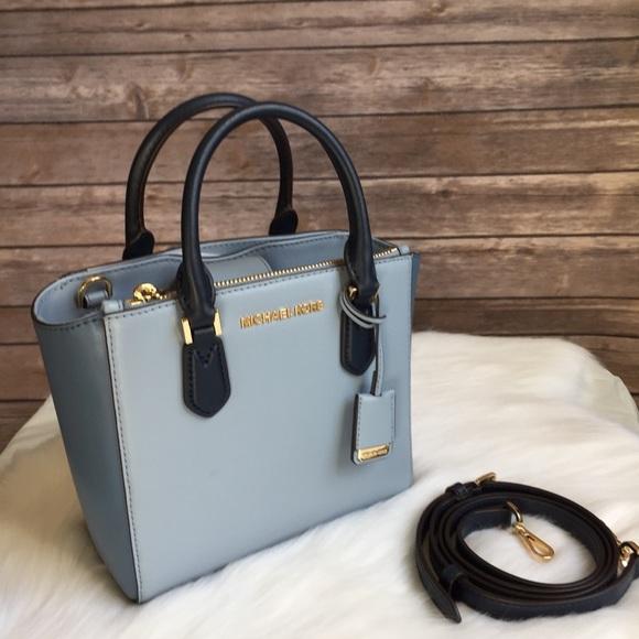 74994a671331 Michael Kors Bags   Carolyn Small Tote Pipe Blue Navy Bag   Poshmark